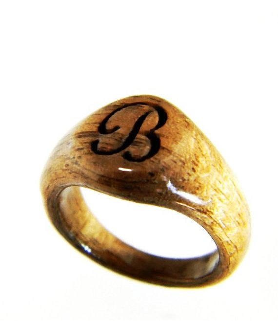 Personalized signet ring monogrammed ring by for Jewelry engraving gainesville fl