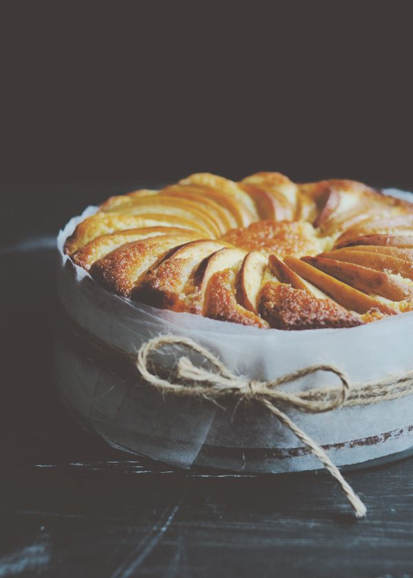 Lemon Yoghurt Apple Cake with Lemongrass + Ginger Syrup