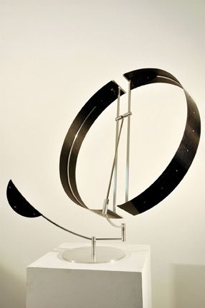 Pedro S. De Movellan - Carbon Circle Series #5 | From a unique collection of sculptures at http://www.1stdibs.com/art/sculptures/