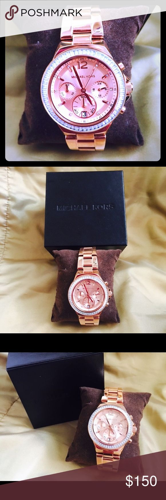 Michael Kors Chronograph Ladies Watch MK6213 New Authentic Michael Kors Chronograph Ladies Watch MK6213 no tag. Rose gold tone stainless steel case with a rose gold tone stainless steel bracelet. Brand New no Tag but comes with original MK Box. ❌Sorry no trades Open to Offers. Michael Kors Accessories Watches