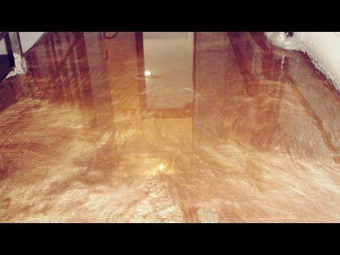 Tutorial de piso com Resina Epóxi Metalizado Ouro e Cobre. - YouTube