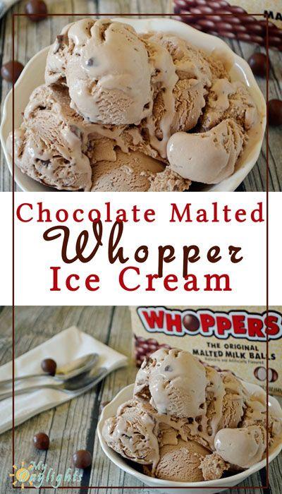 Chocolate Malted Whopper Ice Cream