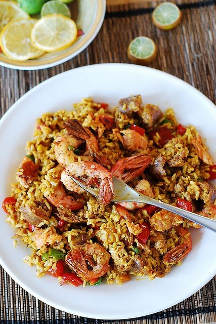 Easy paella with chicken, shrimp, and sausage | Recipe