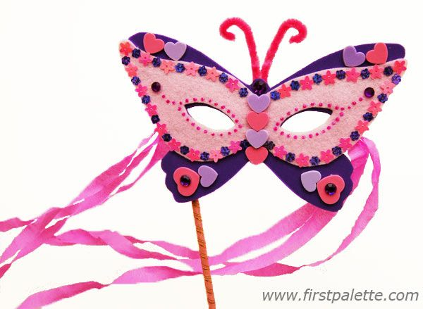 DIY Masquerade Mask - maybe make this one with P for the Father/Daughter Dance