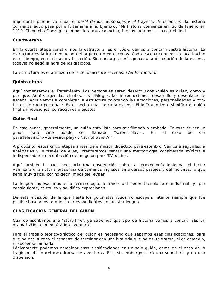 El Guion Arte Y Tecnica De Escribir Para Cine Y Television Writer Film