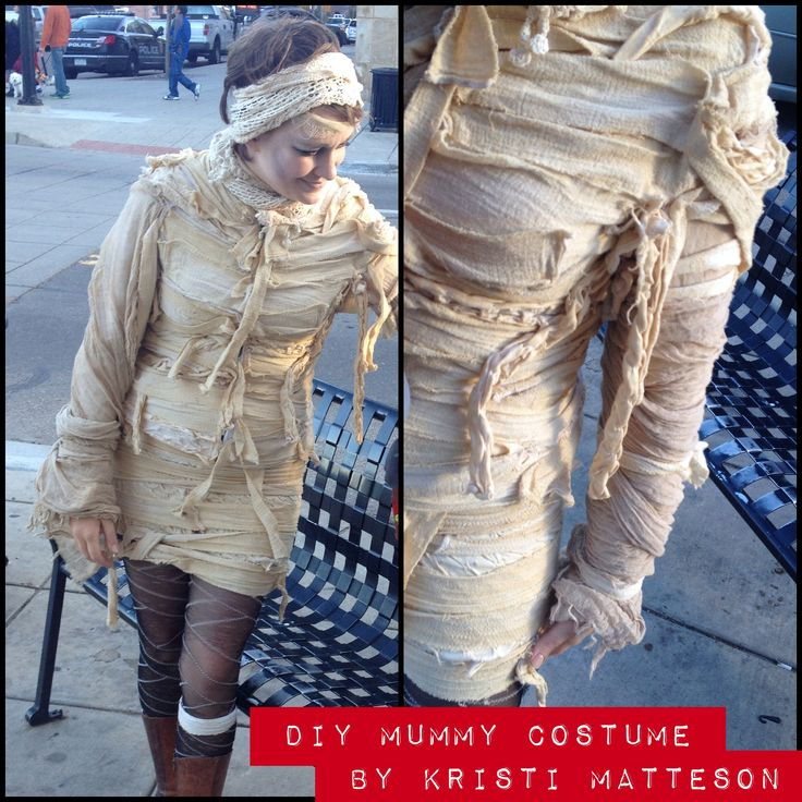 DIY Mummy costume.