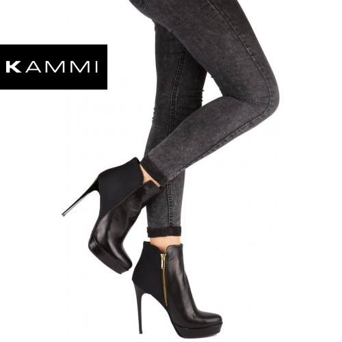 #Tronchetto Kammi Calzature in tessuto e pelle nera con #plateau e tacco 10 cm. #MyKammi #KammiShoes #BikerKammi #Shoes #Loveshoes #Myshoes #Scarpe #scarpedonna #fashion #style #moda #tacco #tacco10