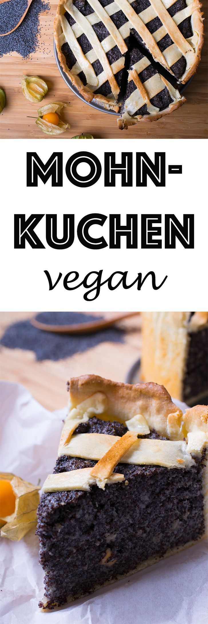 Endlich: Gesunder & Veganer Mohnkuchen - *** Vegan poppy-seed cake with silken tofu. This and more other healthy recipes available at http://www.eat-vegan.de (english and german recipe versions available).