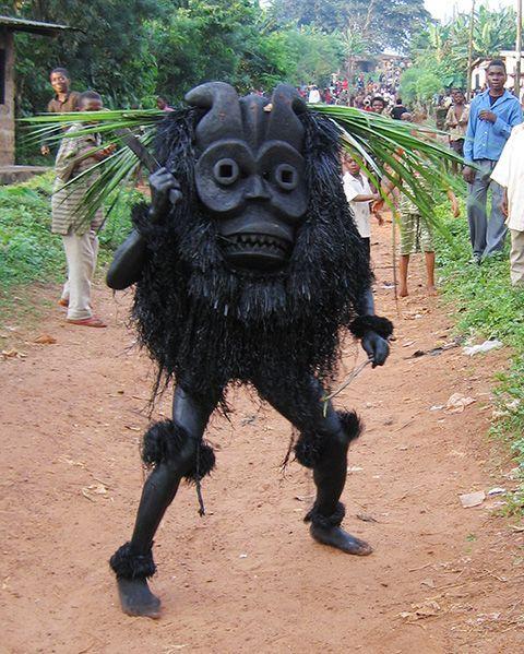 Ekpo masquerade, Ututu, Abia State, Nigeria. Photo by Eli Bentor, 2005.