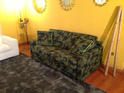 Divano letto novità: divano letto moderno in tessuto mimetico modello Rossy - Tino Mariani http://divaniedivaniletto.blogspot.it/2013/11/divano-letto-mimetico.html