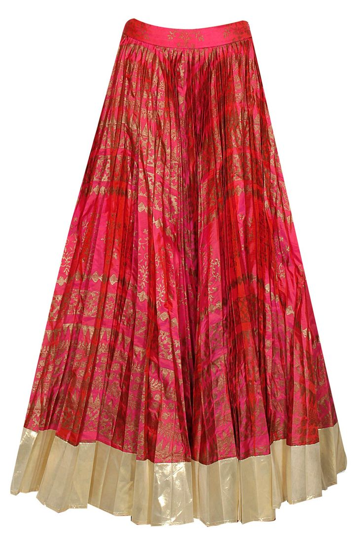 Pink block printed lehenga with dull gold embroidered blouse available only at Pernia's Pop-Up Shop.