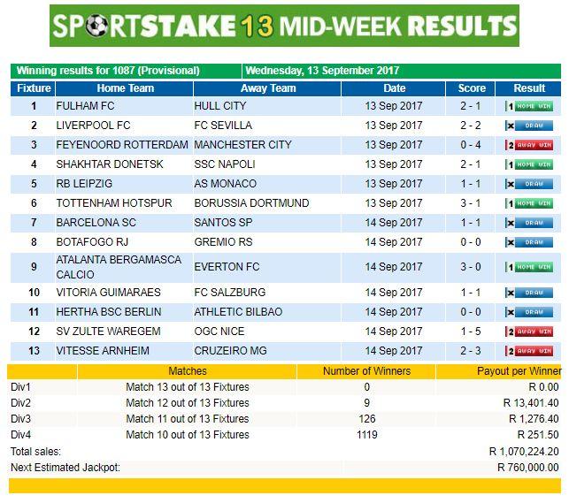 Sportstake fixture midweek online casino