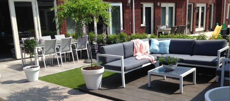Meer dan 1000 idee n over achtertuinen op pinterest patio buiten en zwembaden - Bassin tuin ontwerp ...