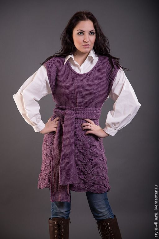 """Купить Платье-туника """"Черничный восторг 2"""" - тёмно-фиолетовый, бохо, бохо-стиль, платье"""