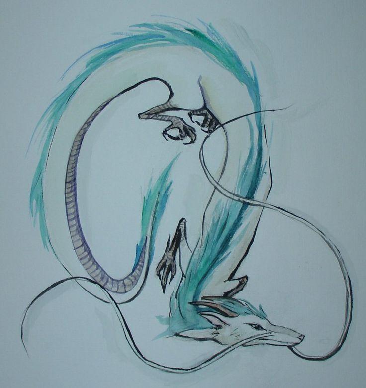 the dragon in spirited away hiyayo miyazaki sketches ...