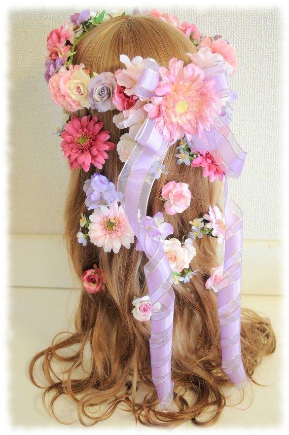*オーダーメイド*♡花かんむりにプラスするお花ごとのヘアアクセサリー♡ |【Flower Accessories*M.MODE online shop】