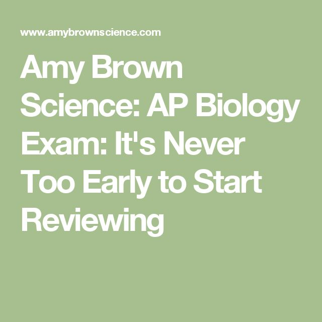 Amy Brown Science: AP Biology Exam: It's Never Too Early to Start Reviewing