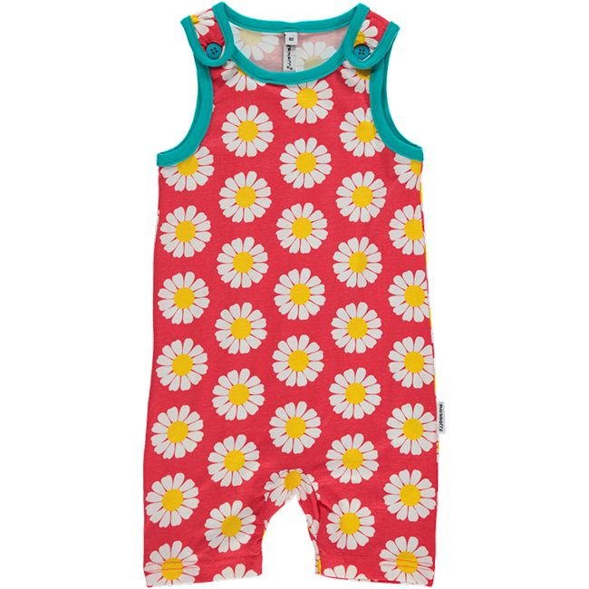 Daisy playsuit for babies and toddlers. Made by Swedish brand Maxomorra.