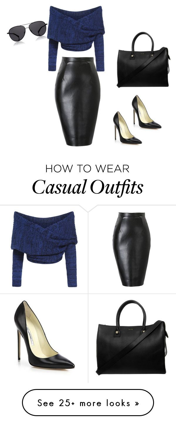 """""""Mild, casual/lunch-dinner date attire"""" by meionehorton on Polyvore featuring Brian Atwood, Paul & Joe and The Row"""