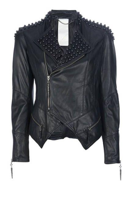 Fall 2013 Fashion Trends - Punk Style Clothing - ELLE THE JACKET Luxury Fashion Studded Leather Jacket
