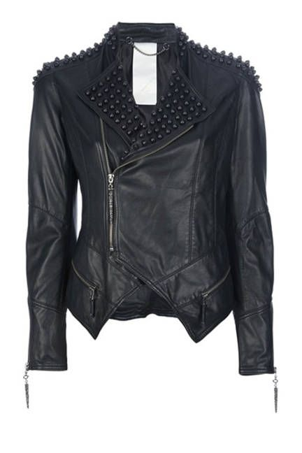 Fall 2013 Fashion Trends - Punk Style Clothing - ELLE THE JACKET Luxury Fashion Studded Leather Jacket