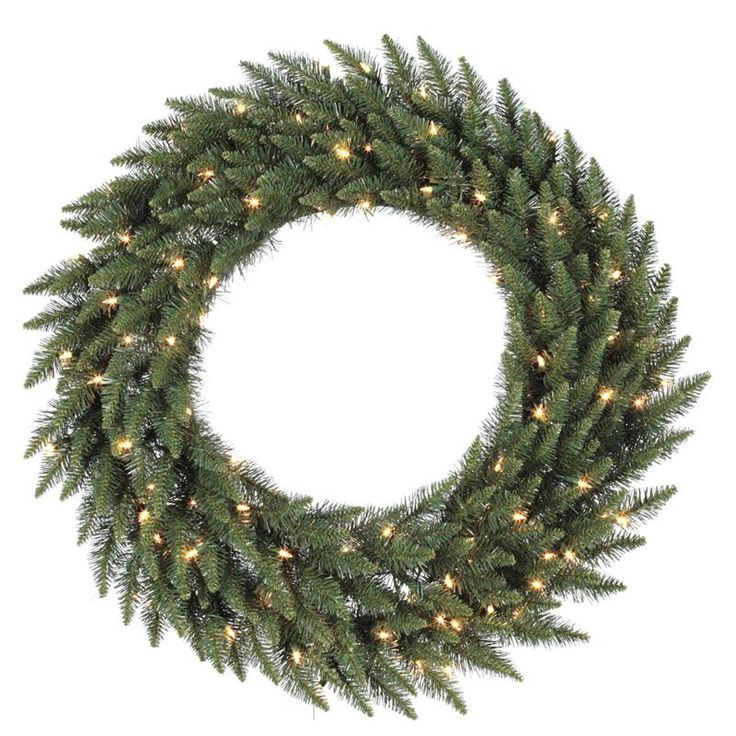 60 in. Camdon Fir Pre-lit Christmas Wreath - A861061