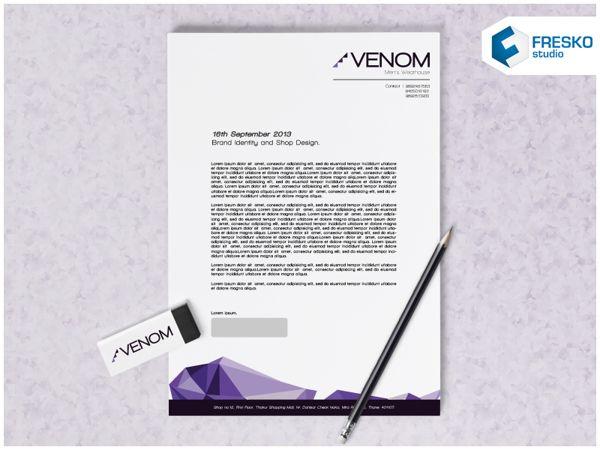 Venom Brand Identity - Kop Surat Desain Elegan