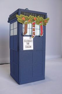 The Craft Spa - Stampin' Up! UK independent demonstrator : Hearth & Home Tardis Tutorial