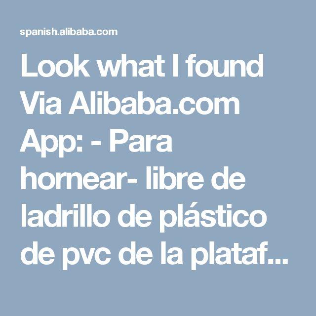 Look what I found Via Alibaba.com App: - Para hornear- libre de ladrillo de plástico de pvc de la plataforma junta
