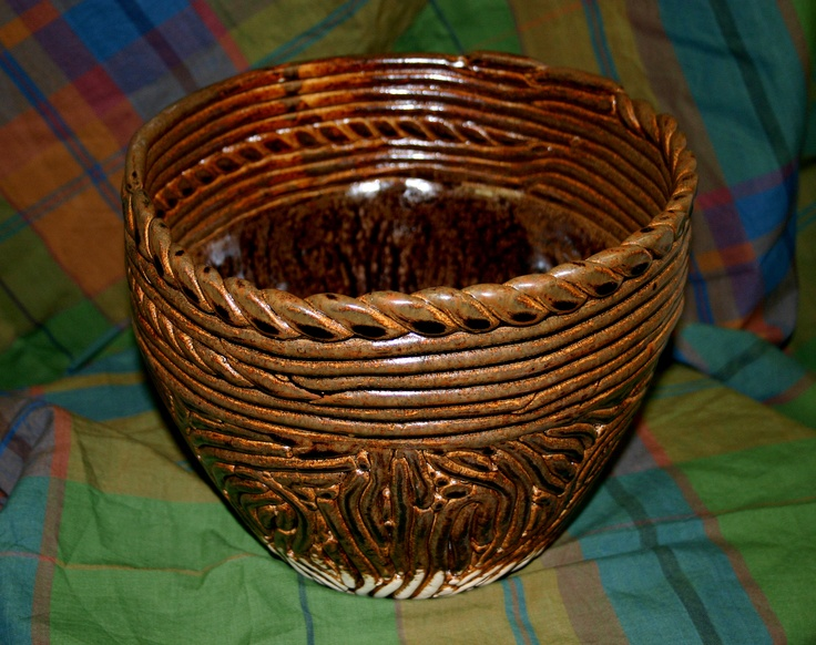 Ramses V  I like the bronze look it makes it seem like a woven basket  The different  types of coils give it very great variation and still looks quite. 55 best Ceramics   Coils images on Pinterest   Coil pots  Clay