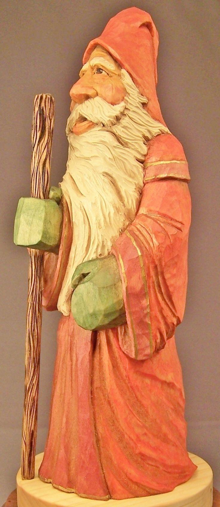 529 best Santa images on Pinterest   Carved wood, Wood carvings ...