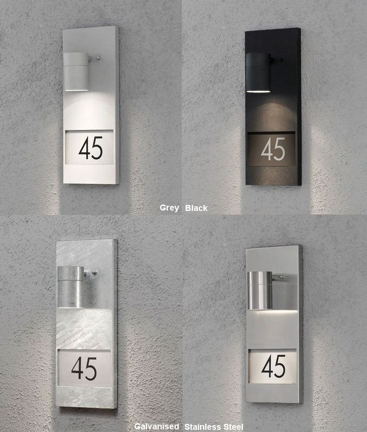 25 Best Ideas About Illuminated House Numbers On Pinterest Exterior House Lights Modern