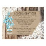 Rustic Orchid Wood Lace Accommodations Card