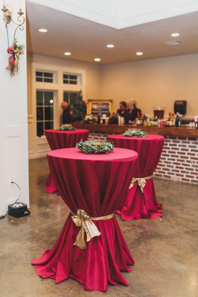 Angleton Reception Halls Springs Venue Winter Wedding Table Winter Wedding Table Decorations Cocktail Hour Decor