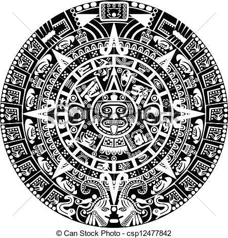 Dibujos mayas buscar con google tattoo pinterest for Aztec mural tattoos