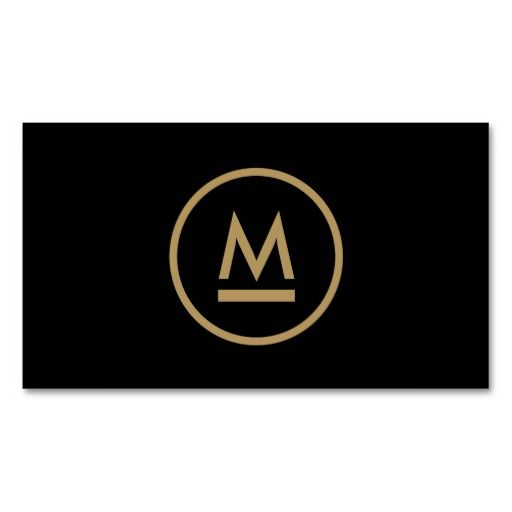 265 best business cards for networking personal use images on big initial modern monogram in gold on black cusomizable logo and business card template reheart Choice Image