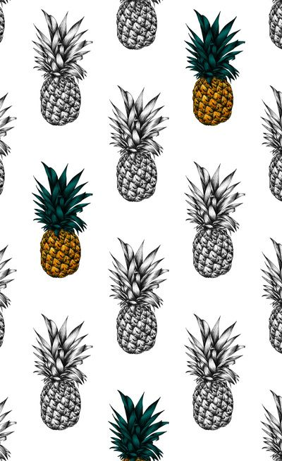 Pineapple Art Print by Eloise Roberts, via Society 6  www.cargocollective.com/eloiserobertsdesigns