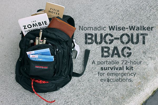 The World Is Ending What To Pack In Your Nomadic Wise Walker Backpack - JetPens.com