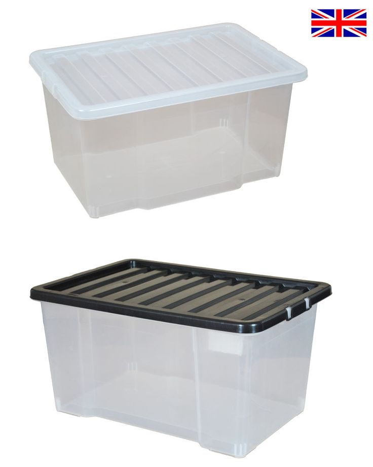 Multipacks of 50 Litre Large Plastic Storage Boxes with Lids - New Clear Box 50L in Home, Furniture & DIY, Storage Solutions, Storage Boxes | eBay