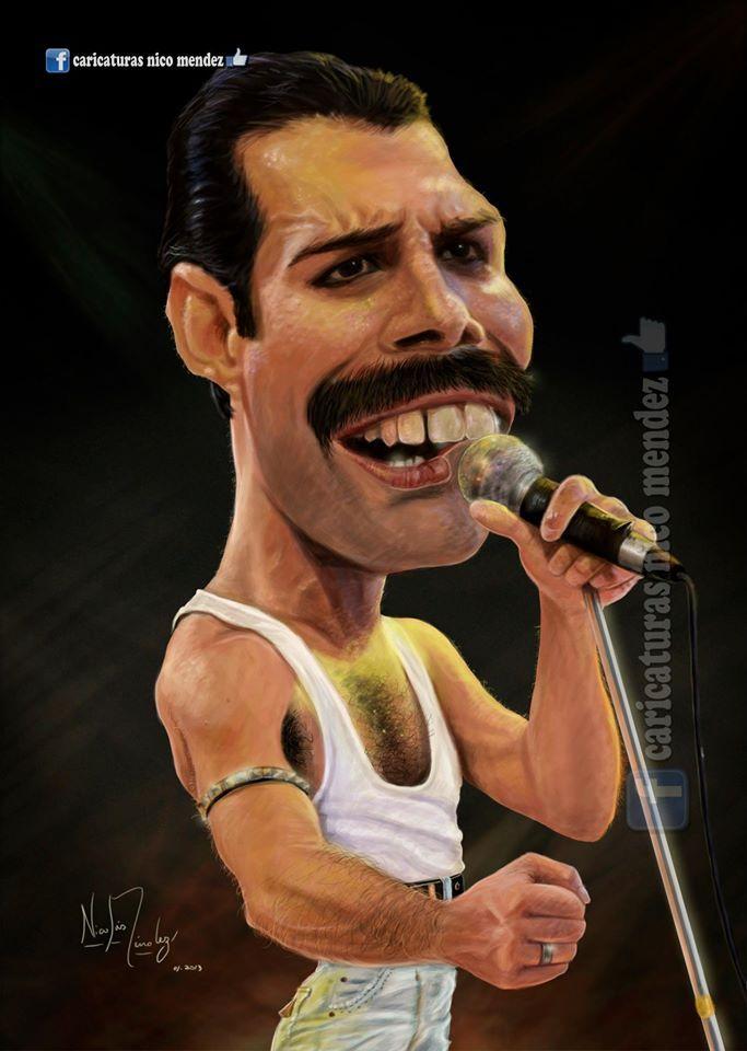 (Caricatura) Freddie Mercury.