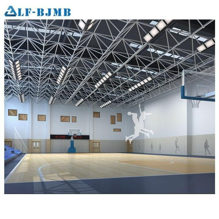 Basketball Court Coverd With Space Frame Roofing System Space Frame Hall Construction Steel Structure Buildings