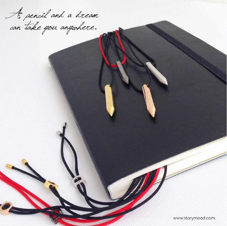 """A #pencil and a #dream can take you anywhere"" our new #jewelry #designs #storymood"