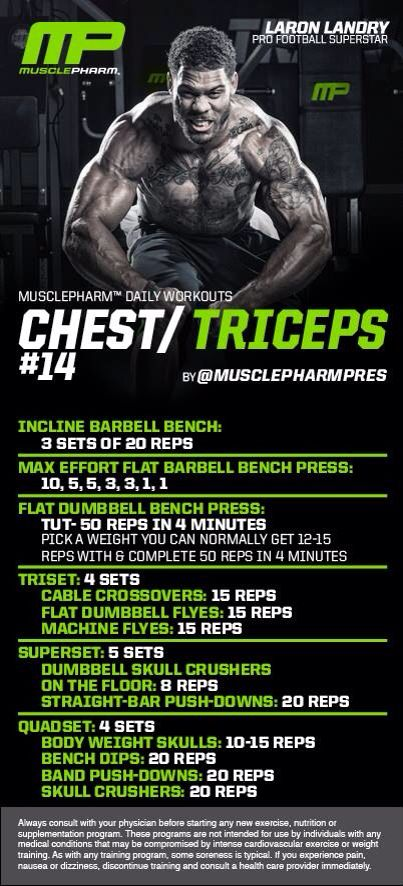 Chest/triceps | MusclePharm Workouts | Pinterest | Triceps