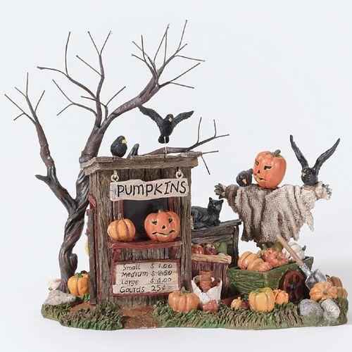 Department 56 - Halloween pumpkin stand