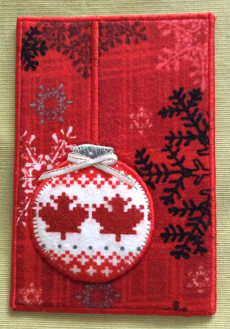 Textile Christmas card by Soloart