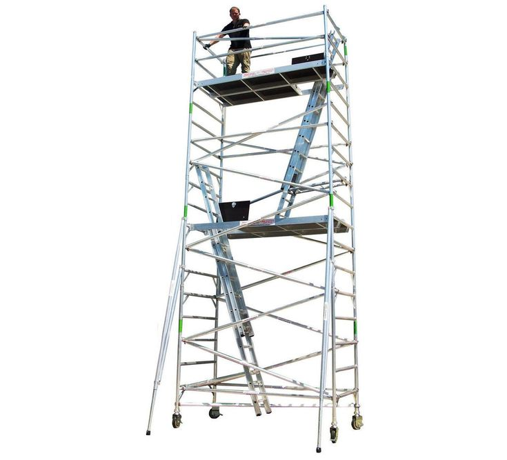 Aluminium Scaffolding 450KG Heavy Duty Mobile Scaffold Tower, 4.5m Access Height