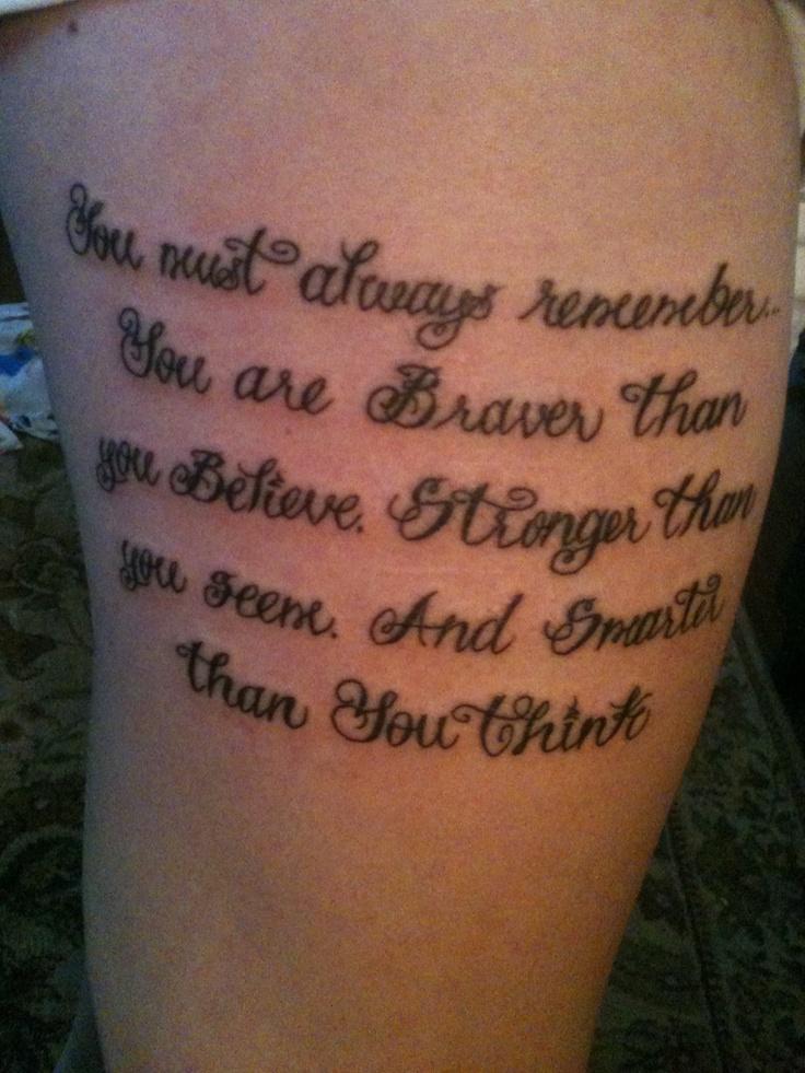 My first tattoo. Winnie the Pooh quote :) | tattoo's ...