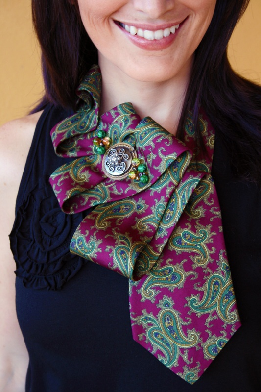 up-cycled ties.  great for my LBD