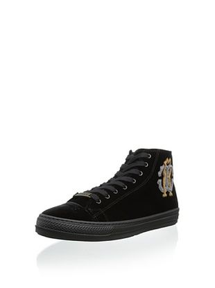 60% OFF Roberto Cavalli Men's Elegant High-Top Sneaker (Black)