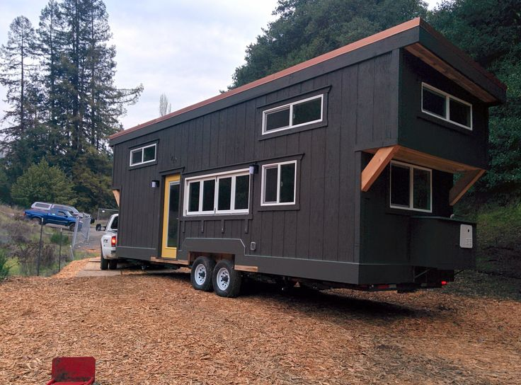 53 best building semi trailer tiny house images on for Small homes built on trailers